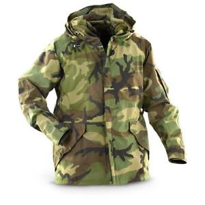 612d589039e US Army Cold Wet Weather Gen 1 ECWCS Waterproof Woodland Goretex Parka