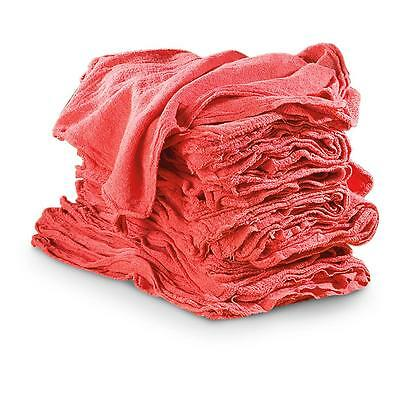 50 Shop Rags Towels Red Large 14x13 Commercial Industrial Cleaning Towels