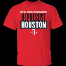 Men's Houston Rockets 2020 Champions Locker Room Red T ...