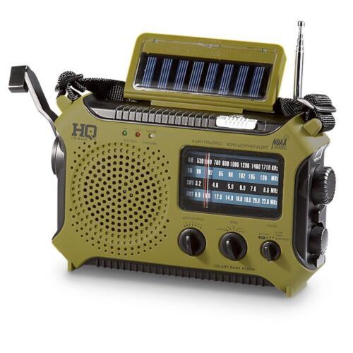 Used HQ ISSUE Dynamo Solar Powered Emergency AM FM Weather Radio