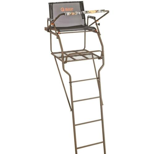 Ladder Tree Stand 15 to 18 ft Game Stands Gun Bow Hunting Archery Harness Deer