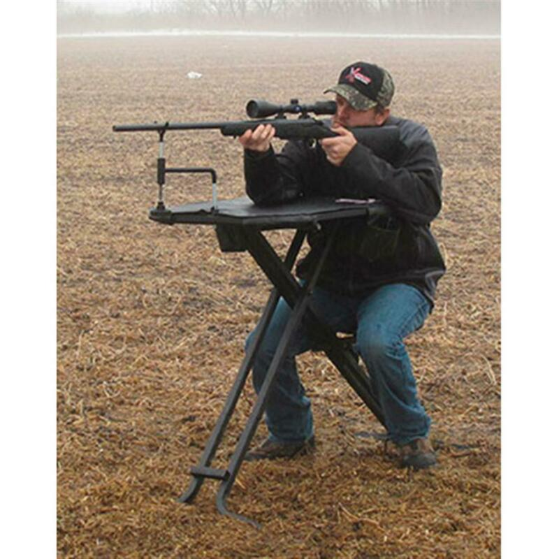 Portable SHOOTING BENCH REST Seat Table Rifle Gun Hunting Game Outdoor Foldable