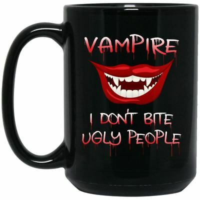 Funny Halloween Vampire Mug Black Coffee Mugs - Halloween Coffee Funny