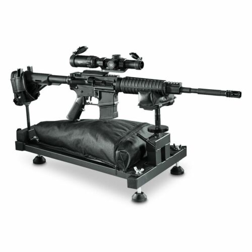 Shooting Rifle Bench Rest Gun Vise Adjustable Sturdy Sighting Gunsmithing Stand
