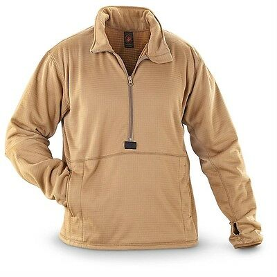 NEW! USMC Polartec Grid Fleece Power Dry Shirt Size LARGE Pullover MCWCS
