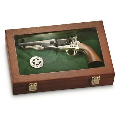 Handgun Display Case Wood Glass Panel Lid Cover - Brand New!