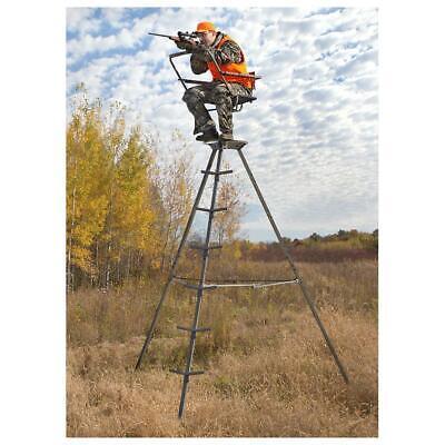 Tripod Deer Stand Hunting 12 Foot Portable Lightweight 1 Man Tower Shooting -