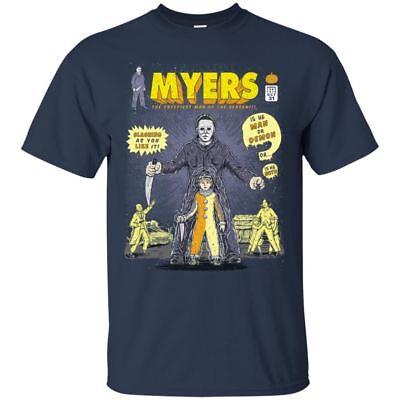 Michael Myers Black T-shirt Halloween Horror Scare Moive Short Sleeve S-3XL