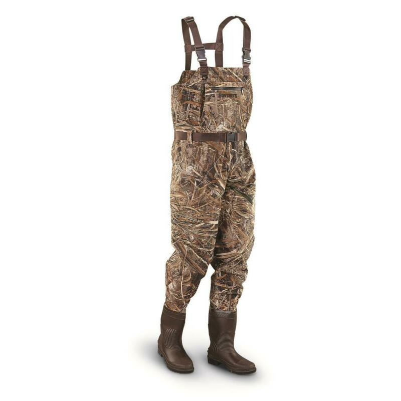 New Heavy Duty HuntRite Polyester PVC Chest Hunting Waders, Realtree Max-5
