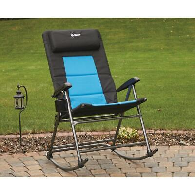 Guide Gear Folding Portable Oversized Rocking Camp Chair, 500-lb. Capacity