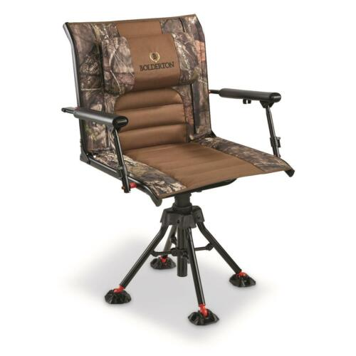 Portable Hunting Chair Armrest Blind Camo Foldable Camping Bonfire Fishing Seat