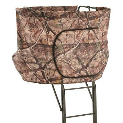 2 Man Tree Stand Hunting Blind Deer Wrap a Round Double Rail Ladder XL -
