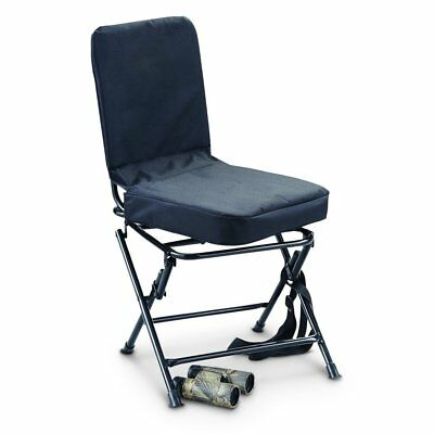 Hunting Blind Chair Silent 360 Degree Swivel Folding Legs Padded - Brand New!