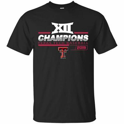 Texas Tech Red Raiders 2019 T-Shirt Men's Baseball Championship Tee -