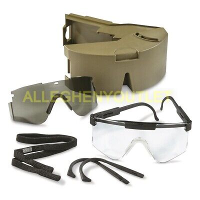 Us Army Special Protective Eyewear Cylindrical System Specs Glasses Kit Exc