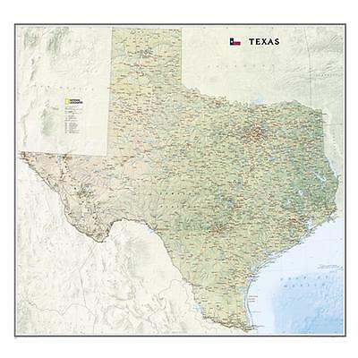 National Geographic Texas State Laminated Wall Map
