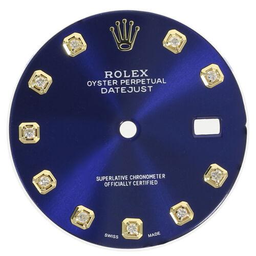Blue Diamond Dial for Rolex Datejust 36mm Two-Tone Genuine Diamonds 16013 16233