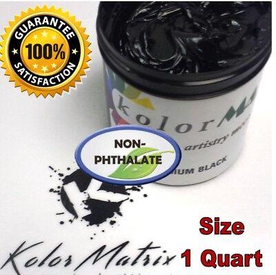 Gen Premium Midnight Black Plastisol Screenprint Ink - Non Phthalate Quart
