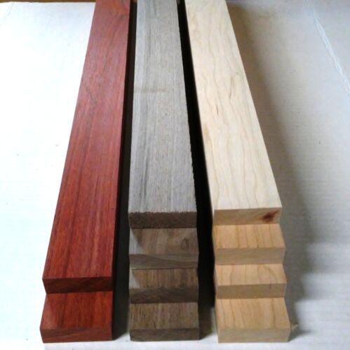"3/4"" x 2"" x 12"" - 2 PADAUK 4 Black Walnut 4 Cherry Wood Cutting Lumber Board"