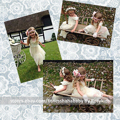 Flower Girl Dress Lace Flower girl dress Rustic Country Flower Girl - Country Girl Dress