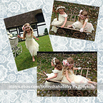 Flower Girl Dress Lace Flower girl dress Rustic Country Flower Girl - Girls Country Dress