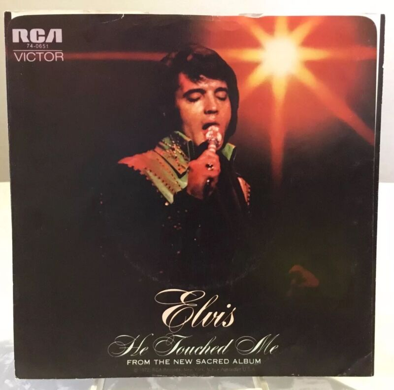 Elvis 74-0651 He Touched Me / Bosom Of Abraham 45 Sleeve / RARE