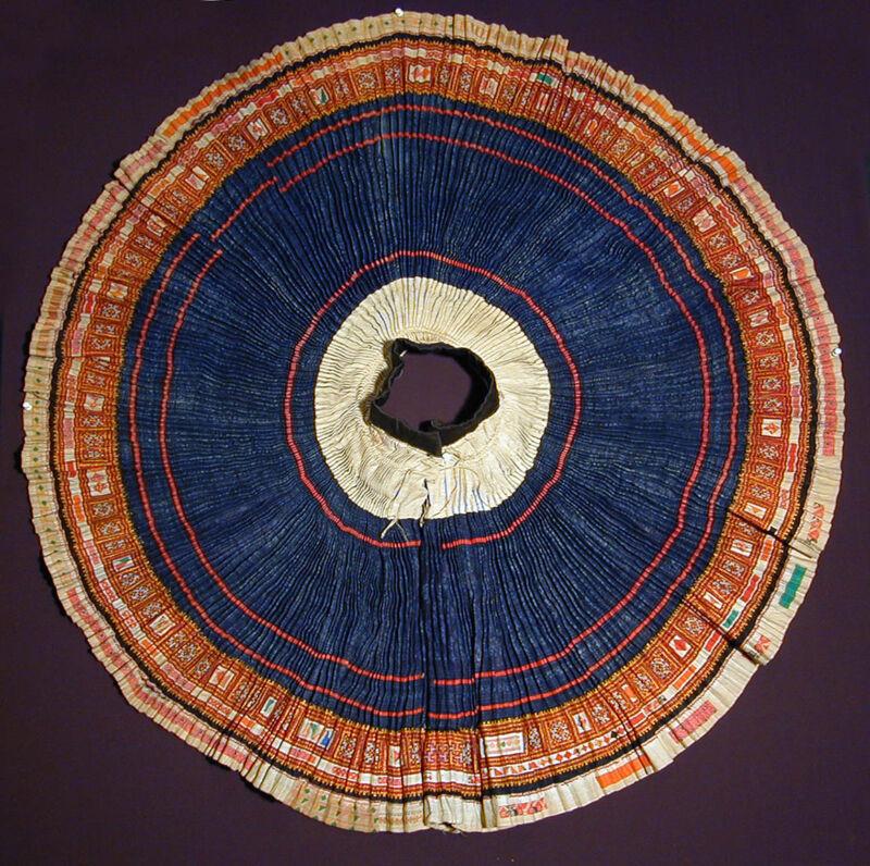 Original HMONG ceremonial handmade ethnic skirt North Thailand 20th century