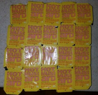 McDonald's HOT MUSTARD dipping Sauce Sealed Authentic Limited supply. Lot Of -
