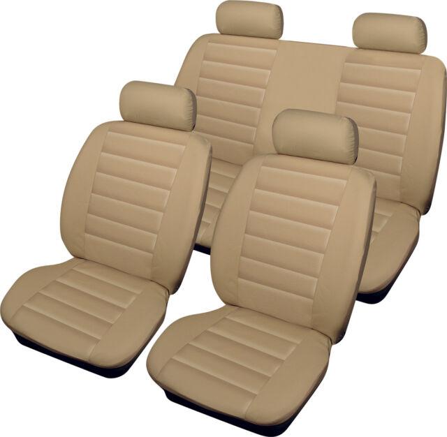 ALFA ROMEO 147 156 Leatherlook Universal Full Set of Car Seat Covers in BEIGE