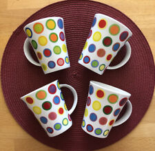 Great Shakes Polka Dotted Coffee Cups Set Of 4 Multicolor ...