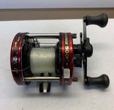 NICE ABU GARCIA AMBASSADEUR FISHING REEL 5000-C - WORKS GREAT-Spooled 20 lb Mono