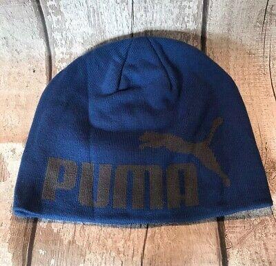 PUMA BIG CAT - BLUE BEANIE - BRAND NEW - ONE SIZE