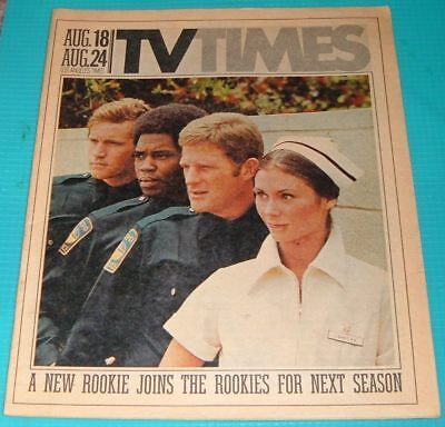 1974 La Times Tv Guide The Rookies Kate Jackson Georg Stanford Brown