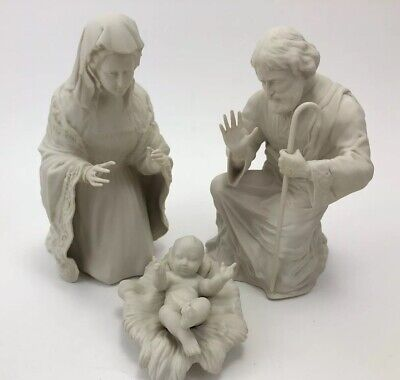 Boehm Porcelain FIRST NOEL NATIVITY HOLY FAMILY 3 Piece Set Bisque White