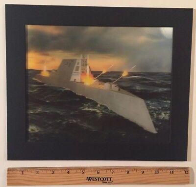 USS Zumwalt DDG1000 Stealth Destroyer Lenticular Photograph Print Navy Raytheon