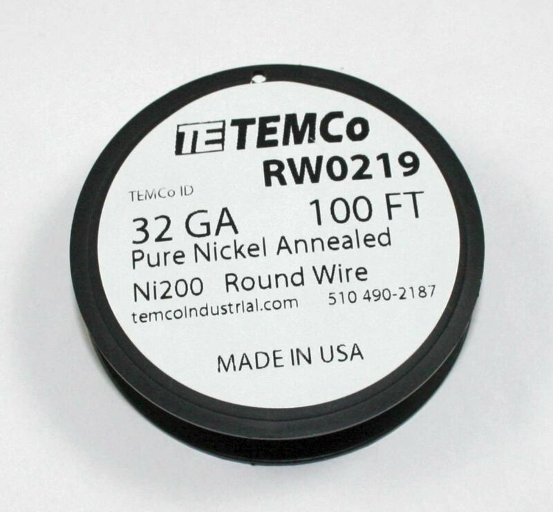 Pure Nickel Wire, 100 FT spool -  32Gauge