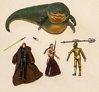 Star Wars Black Series Jabba the Hutt 3.75 Luke Skywalker Slave Leia C-3PO