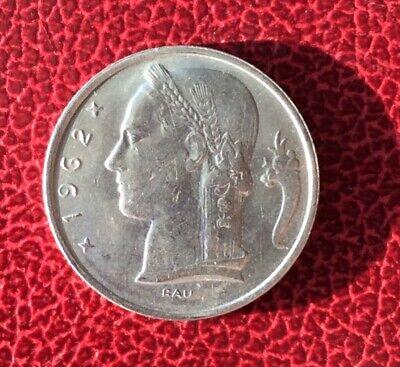 Belgique - Superbe monnaie de 5 Francs 1962 VL  - Rare en cette qualité