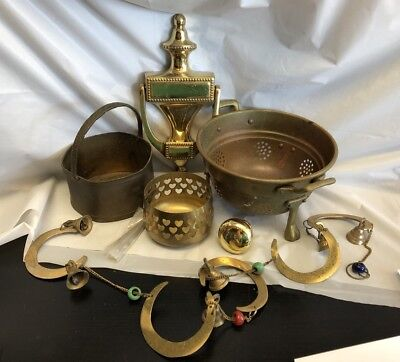 Lot of misc. brass pieces 6 items    150