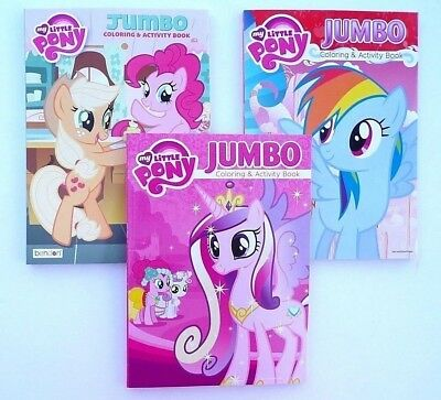 Children's Coloring Books (Lot of 3 MY LITTLE PONY Jumbo Coloring and Activity Books, for Children, *)