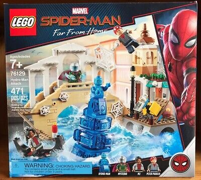 New LEGO 76129 Marvel Spider-Man Far From Home Hydro-Man Attack 471 Pcs Sealed