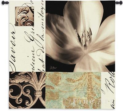 Tulip Montage Contemporary Damask Floral Abstract Tapestry Wall Hanging -