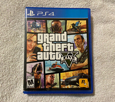 Used-Grand Theft Auto V (Sony PlayStation 4, 2014)-Tested!!!-Works Great!