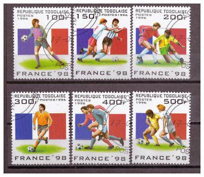 Togo, Fußball-Weltmeisterschaft, Frankreich (1998) MiNr. 2389 - 2394, 1996 used