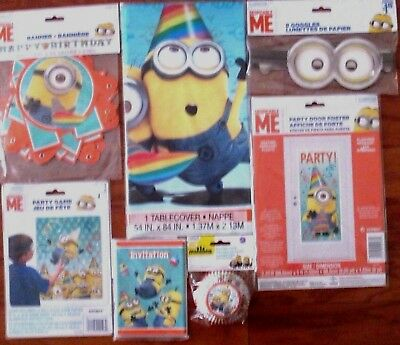 MINIONS DESPICABLE ME BIRTHDAY PARTY SUPPLIES GAMES DECORATIONS CHOOSE FROM 7 - Despicable Me Party Games