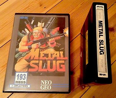 METAL SLUG 1 NEO GEO MVS WITH SHOCK BOX BOXED RARE SNK ORIGINAL UK POST