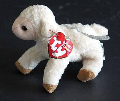EWEY Lamb Sheep TY ORIGINAL BASKIT BEANIES 2001 w TAG Easter FREE SH