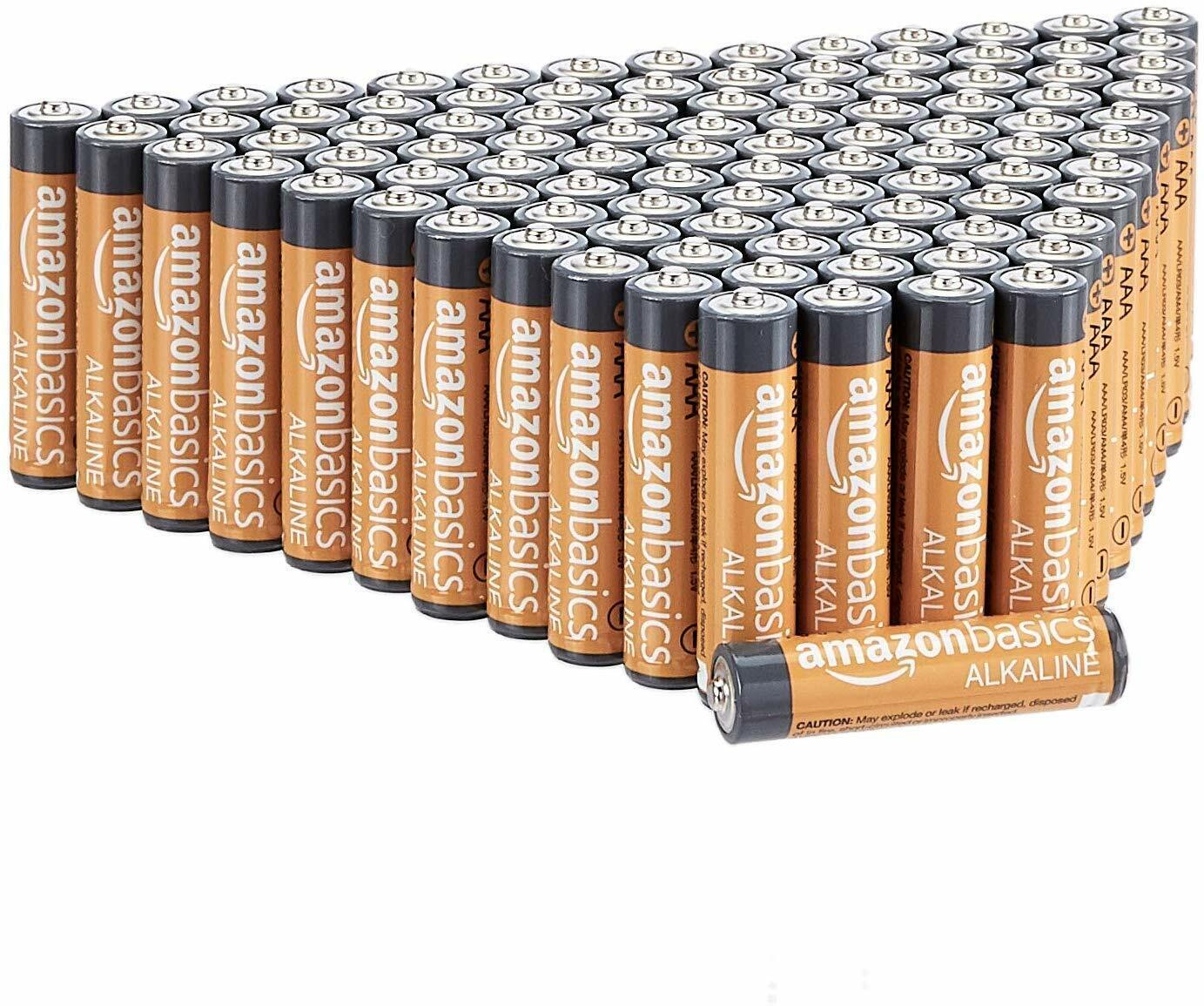 AmazonBasics AAA Performance Alkaline Batteries 100-Pack