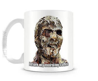 Before My Morning Joe   11 Oz Ceramic Coffee Cup Mug Zombie Horror Walking Dead