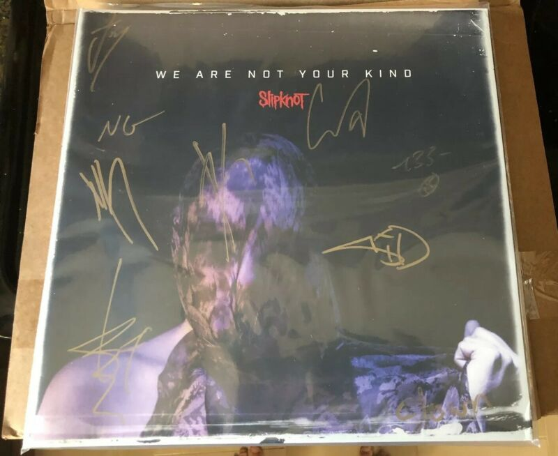 Slipknot Signed We Are Not Your Kind LP Vinyl FULL BAND SIGNED